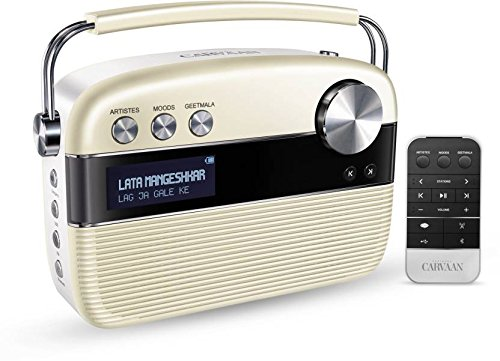 Saregama Carvaan 6 W Bluetooth Home Audio Speaker, SC04  Porcelain White, Stereo Channel  MP3/MP4 Players