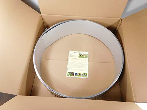 IRKA Rasenkantenband Alu/Zink 15 cm hoch Metall Mähkante Beeteinfassung Rasenkante Beetumrandung Palisade