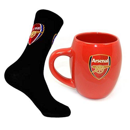 Offizielles ARSENAL FC Tee Badewanne Tasse und Socken Combo -