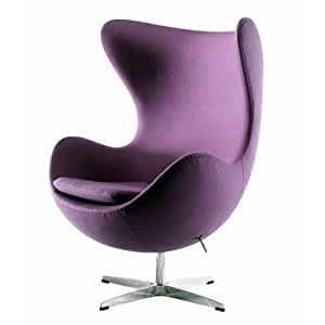 UKA073P Luxurious Arne Jacobsen Style Egg Chair Purple