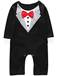 Outtop(TM) Baby-Boys' Outfits Sets Jumpsuit Bow Tie Romper Gentleman Clothes