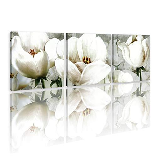 LB Flores,Plantas,Tulipanes,Blanco_Cuadro