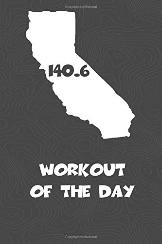 Workout of the Day: California Workout of the Day Log for tracking and monitoring your training and progress towards your fitness goals. A great ... bikers  will love this way to track goals! por KwG Creates