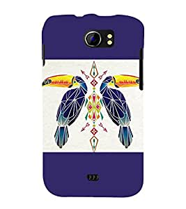 printtech Bird parrot Ethnic Pattern Back Case Cover for Micromax Canvas 2 A110::Micromax Canvas 2 Plus A110Q