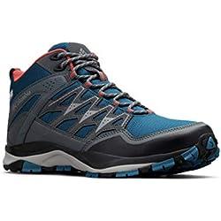 Columbia WAYFINDER Mid Outdry, Zapatos de montaña para Mujer, Azul (Lagoon, Coral 457), 37.5 EU
