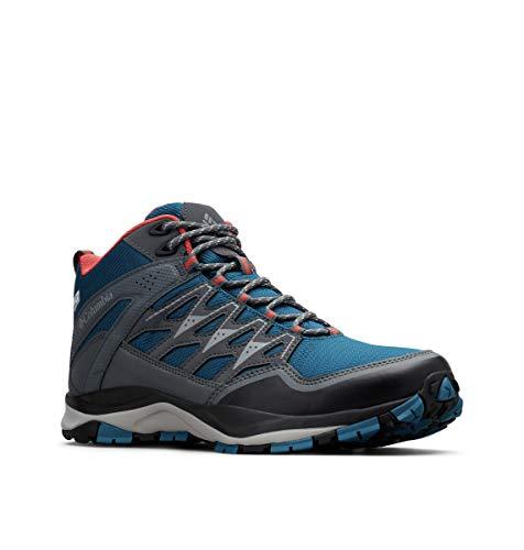 Columbia WAYFINDER Mid Outdry, Zapatos de montaña para Mujer, Azul Lagoon, Coral 457, 41 EU
