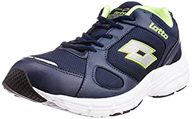 Lotto Men's Omega II Navy and Lime Mesh Running Shoes - 7 UK/India (41 EU)