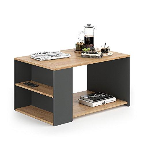 Vicco Couchtisch DARIO - Wohnzimmer Sofatisch Kaffeetisch 3 Farbvarianten Beistelltisch 90 x 60 cm - mit Ablagefächern...