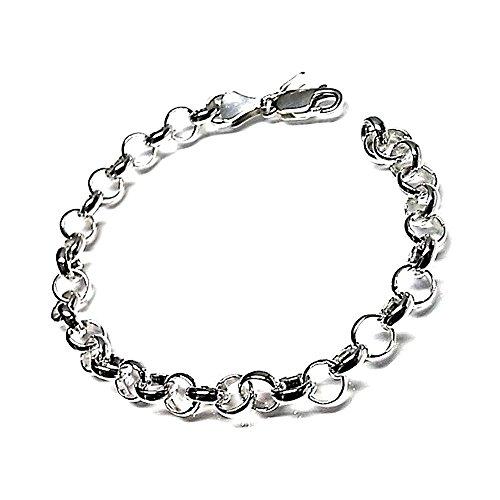 925m Silber Armband Gesetz 1mm Rolo glätten. Dicke [AB0124]