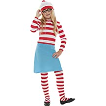 Where's - Disfraz de Wally infantil, talla 7 - 9 años (38793M)