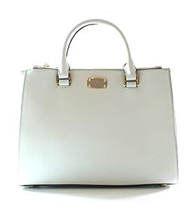 Michael Kors Kellen Leather White Shoulder Bag