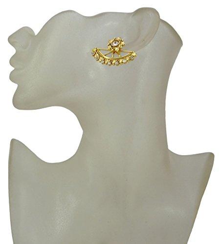 Banithani Indien ethnique traditionnel Dangle boucles d'oreilles Bijoux cadeau pour les femmes Or-3