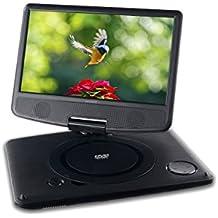 "Sunstech DLPM912BK - Lector de DVD portatil (pantalla 9"" abatible, USB) color negro"