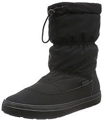 crocs Women s Lodge Point Pull-On Snow Boot Black 11 B(M) US