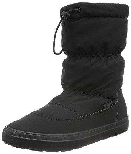 Crocs - Ldgeptpullonbtw, Stivali a metà polpaccio non imbottiti Donna Nero (Black)