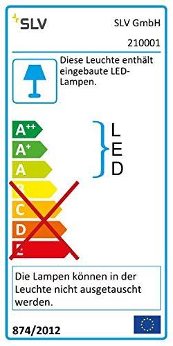 SLV LED Büroleuchte dimmbar, höhenverstellbar, Blendfreie Büro-Beleuchtung, Arbeitszimmer-Deckenleuchte, Hänge-Lampe Büro, Arbeitsplatz-Beleuchtung, Panel, Warmweiß 3000K, LED Inside, EEK A++