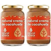Natural Crema de cacahuete 100% natural, sin azúcar añadido.100% cacahuetes. Pack 2x500gr