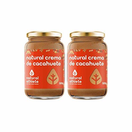 Burro di arachidi - natural athlete - 100% naturale, senza zuccheri aggiunti. pack 2x500g