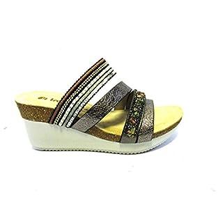INBLU Bicolor Media Wedge Sandal MainApps