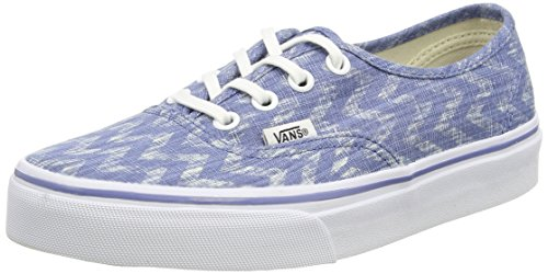 Vans U Authentic Denim Chevron, Sneakers, Unisex Blu (Blue (Denim Chevron - Blue/True White))