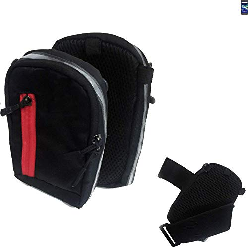 K-S-Trade Outdoor Gürteltasche Umhängetasche für General Mobile GM 6 schwarz Handytasche Case travelbag Schutzhülle Handyhülle