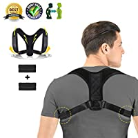 Charminer Posture Corrector for Unisex,Back Support Brace Adjustable, Posture Brace Help to Improve Posture,Shoulder & Clavicle Area Pain Relief for Men Women Large-Chest Circumference【37-45 Inch】