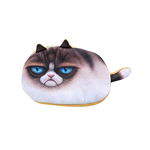 jieGREAT ❤❃ Büromaterial Räumungsverkauf❤❃,Kids Best Gift School Cat Face Pencil Case Storage Bag Coin Purse Cosmetic Pouch