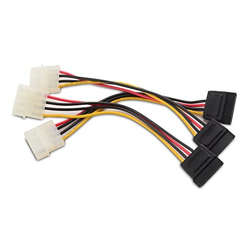 Cable Matters 3 Paquetes Cable 4 Pin Molex SATA Cable