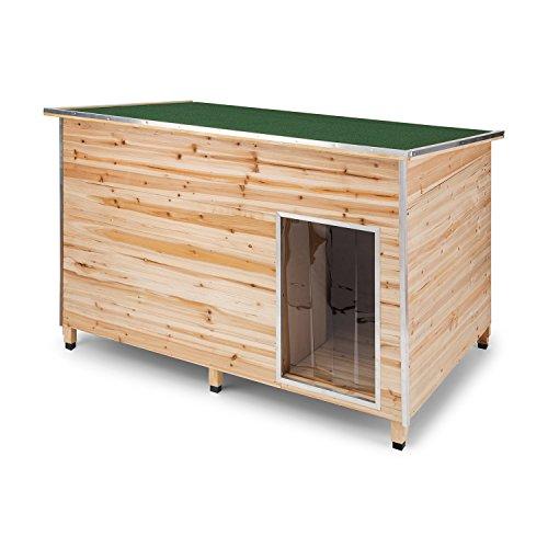 Oneconcept schloss wuff • cuccia per cani • cuccia per cani da esterno • legno di abete • isolamento in polistirolo • ideale per cani fino a 60 cm • rivestimento in bitume • antimorso • dimensione l