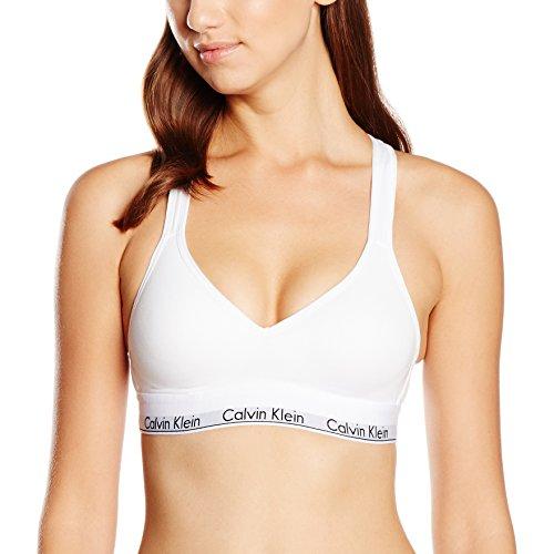Calvin Klein Damen Bustier Bralette Lift, Weiß, M