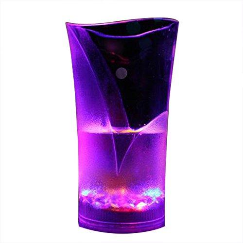 QIANGUANG LED Intermitente Taza Automático Brillante Vaso con Jarra Sensor Ligero Arriba Líquido Activado Cambio de colorido luminoso luz taza Fiesta Noche Clubbing Cumpleaños (Copa alta)