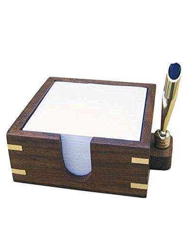 Maritimer Zettelkasten aus Holz mit Stifthalter