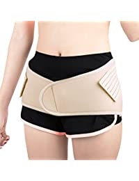 sourcingmap® Light Gray Postpartum Abdominal Pelvis Shaping Belt Belly Wrapping Shaper Cincher Corset Shapewear