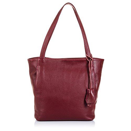 Firenze ARTEGIANI.Bolso Shopping Bag de Mujer Piel auténtica.Bolso Cuero Genuino Piel acabdo...
