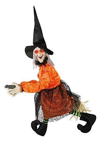 P 'TIT Clown re43171-Hexe auf Besen, animiert, Ton und Licht, 80 cm cm x 60 cm