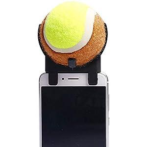 BABYS'q Attachement De Smartphone De Tennis, Boule De Bâton De Selfie pour Le Retardateur De Chien d'animal Familier