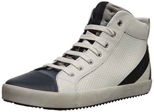 Geox j alonisso a, sneaker a collo alto bambino, bianco (white/navy), 29 eu
