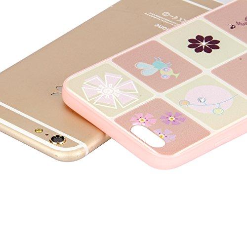iPhone 6 Custodia,iPhone 6S Cover,Ukayfe Terrapin Cover di Gomma Rigida per iPhone 6/6S , Custodia Back cover, Personalizzata Dipinto Pattern Bumper Cover estremamente sottile pelle antigraffio Protet Dieci griglia