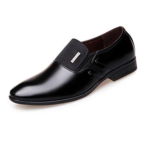 Feidaeu Mocassin Hommes Chaussures Lacet Non Cuir Souple Business Commercial Jointif Bout Pointu Classitique Respirent Loisir Derby Enflier Souliers Noir