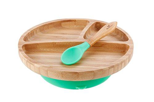 Plato para niños verde verde
