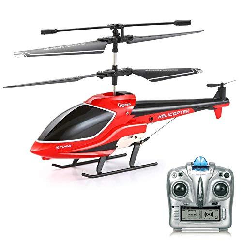 GoStock RC Helikopter Ferngesteuert Helikopter Kinder Indoor/ Outdoor, 3.5 Kanäle mit Gyro und LED Licht Mikro Fernbedienung RC Hubschrauber Spielzeug Geschenk für Jungen Kinder & Erwachsene
