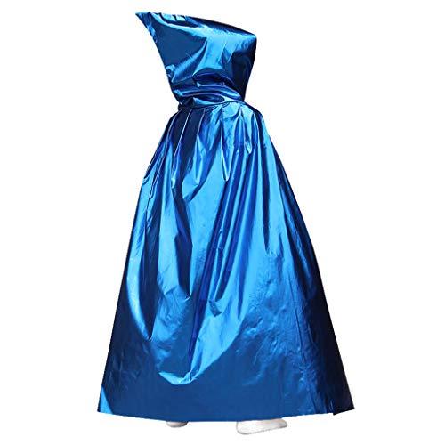 Junlinto Halloween Party Weihnachten Ostern Magie Lange Vampir Kapuzenumhang Kostüm Cape Blue (Blue Cape Kostüm)