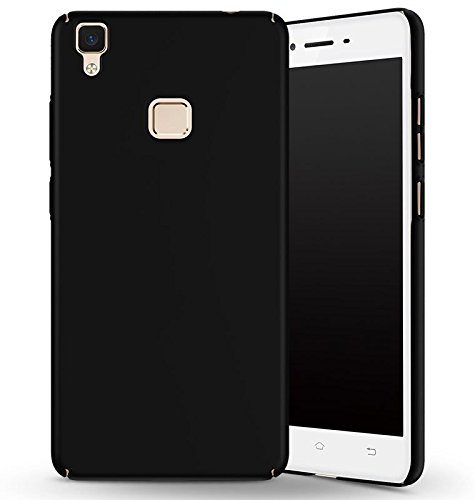 SDO™ Luxury Matte Finish Rubberised Slim Hard Case Back Cover for Vivo V3 (Black)