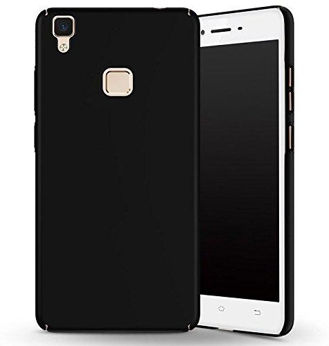 SDO™ Slim Matte Finish Rubberized Hard Back Case Cover for Vivo V3 (Black)
