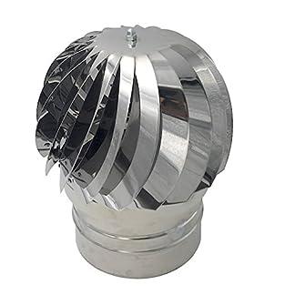 Einside AISI304 – Extractor de humo giratorio de viento, acero inoxidable, base redonda, sombrero de chimenea, varias dimensiones