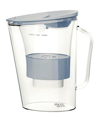 bianco dipuro Aqualita 2,5L Wasserfilter + 1 Kartusche Trinkwasser Filter (Hellblau) (Wasser-filter-system Krug)