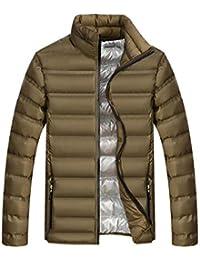 62a5701d1301 BESBOMIG Homme Puffer Jacket Blouson Veste Bomber Doudoune en Coton -  Manches Longues Slim Fit Hydrofuge