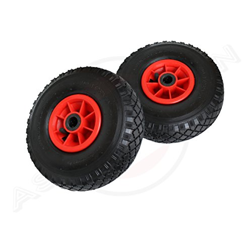 2 Stück Rad 260/85/25* Reifen 3.00-4 PR2 Sackkarrenrad Sackkarren Bollerwagen Tragkraft 136 kg (Und Räder Reifen)