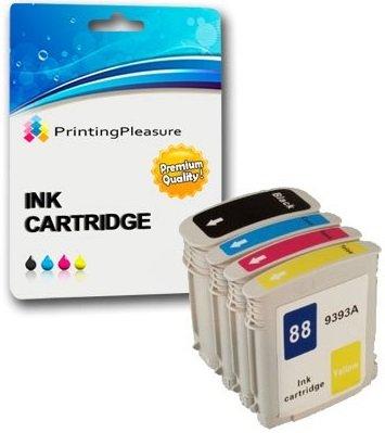 Drucker-tinten L7680 Hp (PRINTING PLEASURE 4 XL Druckerpatronen für HP Officejet Pro K5400, K5400dn, K5400dtn, K5400n, K8600, K8600dn, K550, K550dtn, K550dtwn, K5300, L7000, L7400, L7480, L7500, L7550, L7580, L7588, L7590, L7600, L7650, L7680, L7681, L7700, L7710, L7750, L7750, L7780, L7880 | kompatibel zu HP 88XL)
