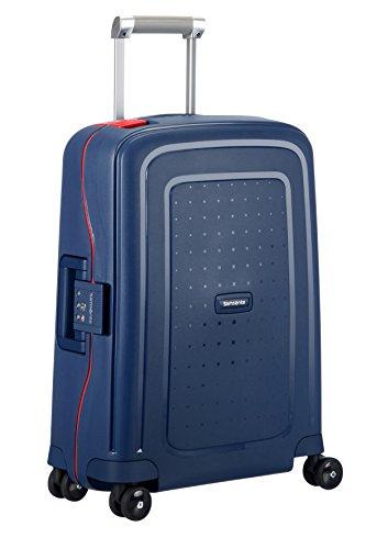 SAMSONITE S'Cure - Spinner 55/20 Bagage cabine, 55 cm, 34 liters, (Navy Bleu/capri Rouge)